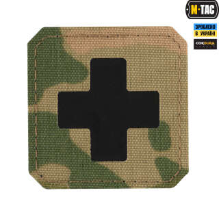 M-Tac нашивка Medic Cross Laser Cut Multicam/Black