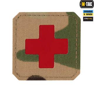 M-Tac нашивка Medic Cross Laser Cut Multicam/Red