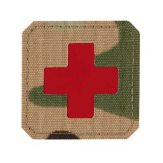 M-Tac нашивка Medic Cross Laser Cut Multicam/Red