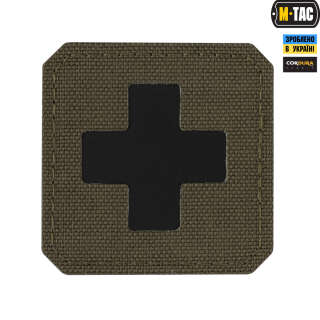 M-Tac нашивка Medic Cross Laser Cut Ranger Green/Black