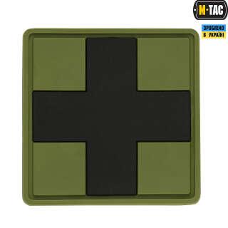 M-Tac нашивка Medic Cross Square PVC Olive/Black