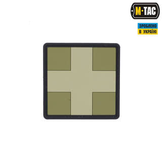 M-Tac нашивка Medic Cross Square ПВХ олива