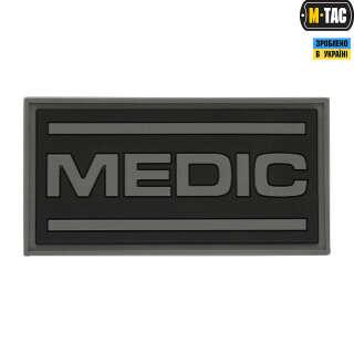 M-Tac нашивка Medic PVC Black/Grey