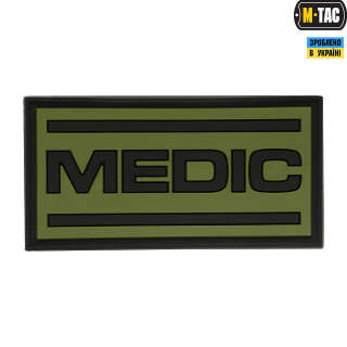 M-Tac нашивка Medic PVC Olive/Black