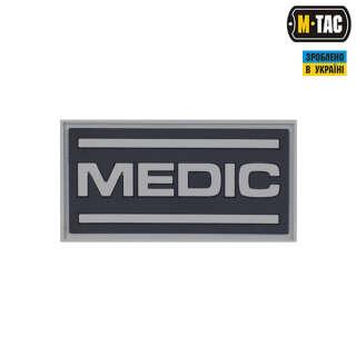 M-Tac нашивка Medic ПВХ чорний/сірий