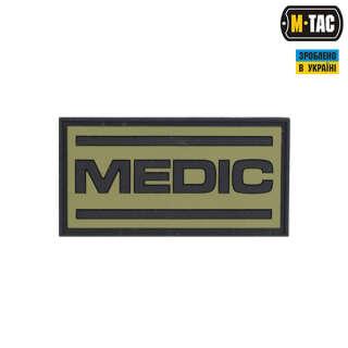 M-Tac нашивка Medic ПВХ олива/чорний
