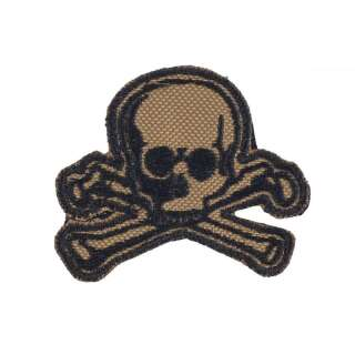 M-Tac нашивка Old Skull койот/чорний