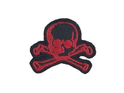 M-Tac нашивка Old Skull красно-черная