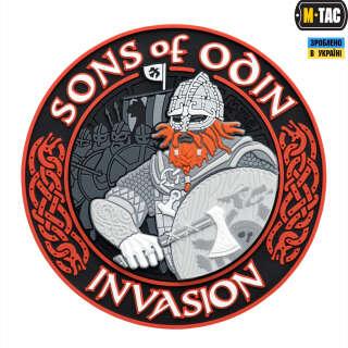 M-Tac нашивка Sons of Odin 3D ПВХ черный/красный