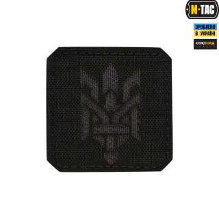 M-Tac нашивка Тризуб (стилизация) Laser Cut малая Black/Grey