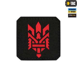 M-Tac нашивка Тризуб (стилизация) Laser Cut малая Black/Red