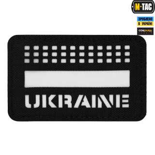 M-Tac нашивка Ukraine Laser Cut Black/светонакопитель
