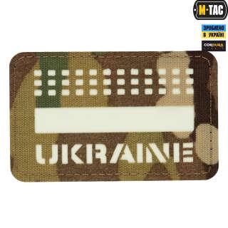M-Tac нашивка Ukraine Laser Cut Multicam/светонакопитель