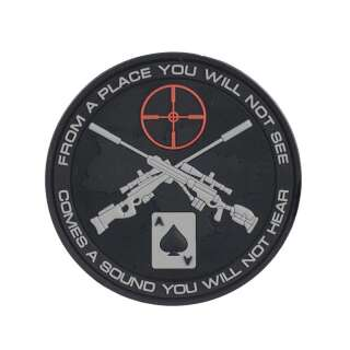 M-Tac нашивка Ukrainian Snipers ПВХ чорна