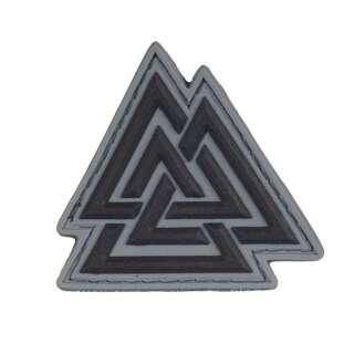 M-Tac нашивка Валькнут ПВХ черный/серый