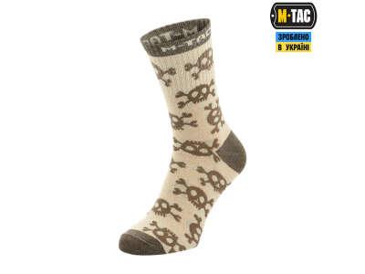 M-Tac носки легкие Mk.3 Pirate Skull Sand
