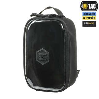 M-Tac органайзер утилітарний прозорий Elite Small Gen.II Black