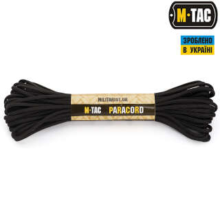 M-Tac паракорд 550 type III Black 15м