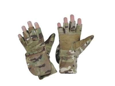 M-Tac перчатки беспалые с клапаном Windblock 295 мультикам