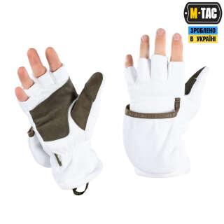 M-Tac перчатки беспалые с клапаном Winter 270 White