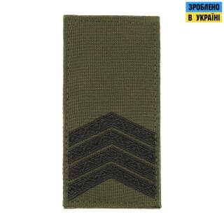 M-Tac погон МО Старший сержант (4 лички) на липучці олива