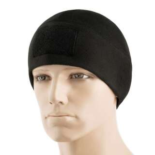 M-Tac шапка Watch Cap Elite флис (270г/м2) с липучкой Black