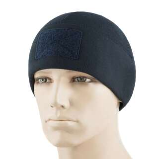 M-Tac шапка Watch Cap Elite флис (270г/м2) с липучкой Dark Navy Blue