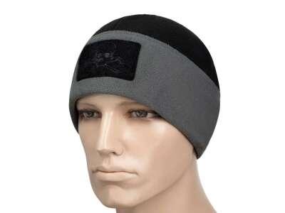 M-Tac шапка Watch Cap флис/сетка Pirate Skull Windblock 380 черно-серая