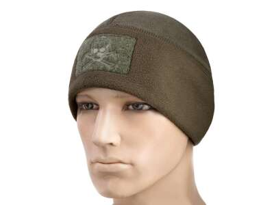 M-Tac шапка Watch Cap флис/сетка Pirate Skull Windblock 380 Olive