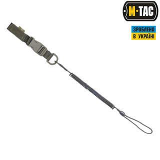 M-Tac шнур страхувальний Lite комбінований з D-кільцем і фастексом олива