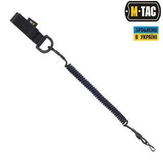 M-Tac шнур страхувальний Lite під карабін з D-кільцем чорний