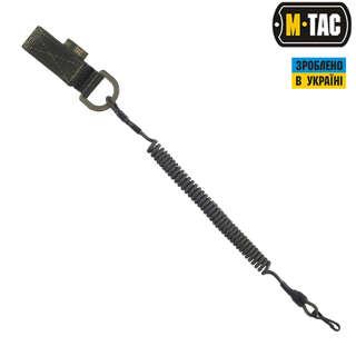 M-Tac шнур страхувальний Lite під карабін з D-кільцем олива
