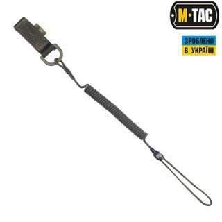 M-Tac шнур страхувальний Medium комбінований з D-кільцем олива