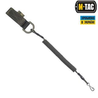M-Tac шнур страхувальний Medium під карабін з D-кільцем олива