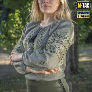 M-Tac вышиванка женская 100% лён олива