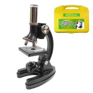 Мікроскоп Optima Beginner 300x-1200x подарунковий набір (MB-Beg 01-101S)