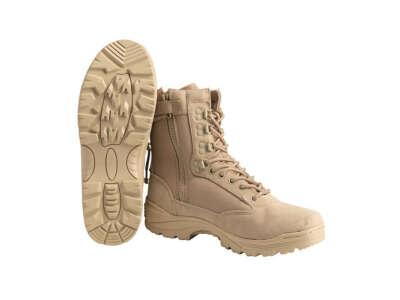 Mil-Tec Boots Zipper Khaki Взуття тактичне EU43