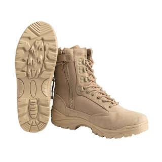 Mil-Tec Boots Zipper Khaki Взуття тактичне EU45