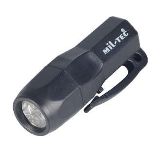 Милтек мини-фонарь 3 LED черный