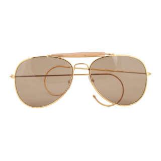 Милтек очки солнцезащитные Air Force коричневые