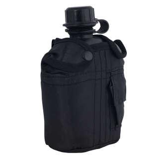 Фляга Mil-Tec с чехлом,США,1л.(Black), Mil-tec