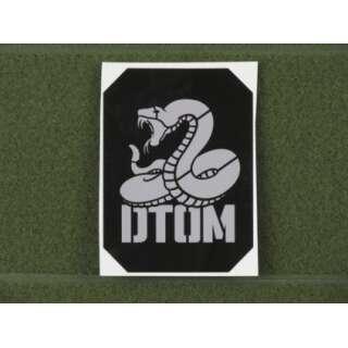 MSM DTOM Stencil Decal Grey on Black