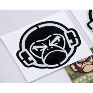 MSM Logo Stencil Decal Grey on Black