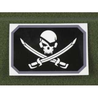 MSM Pirateskull Flag Decal SWAT