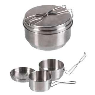 Набір алюмінієвого посуду Mil-Tec (2-TLG/Steel), Mil-tec