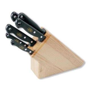 Нaбор ножів MAM на дерев'яній підставці світле дерево 5шт №420