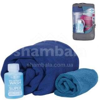 Набір: рушник з мікрофібри + шампунь Tek Towel Wash Kit, M - 50х100см, Cobalt Blue від Sea to Summit (STS ATTKITMCO)