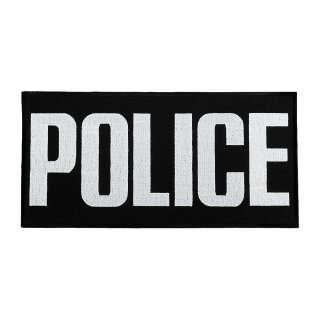 Нашивка на спину Police (30х15 см) черная