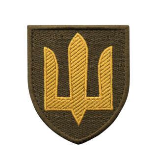 Нашивка Сухопутні війська ЗСУ олива/жовтий
