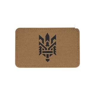 M-Tac нашивка Тризуб (стилизация) Laser Cut горизонтальная Coyote/Black